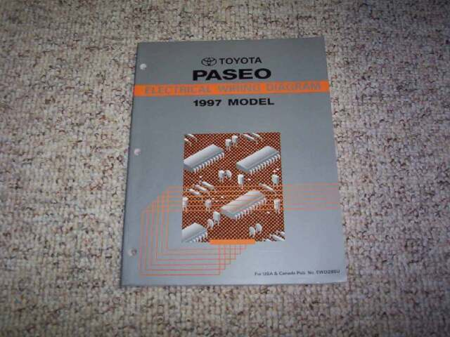 1997 Toyota Paseo Electrical Wiring Diagram Manual Coupe