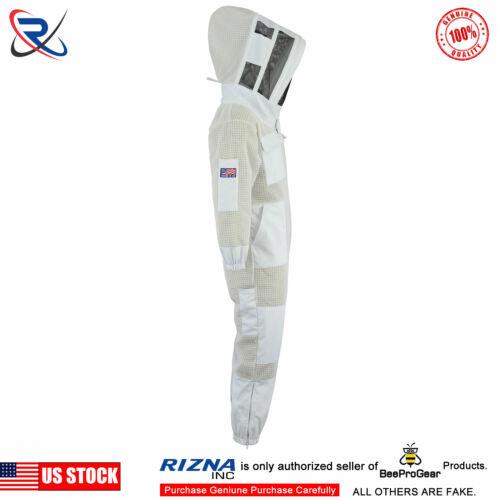 SN5 3 Layer bee beekeeping protective suit ventilated Fencing Veil Beekeeper 2XL