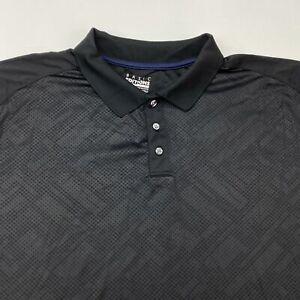 Basic Editions Polo Shirt Men's 3XL XXXL Short Sleeve Black Polyester Casual
