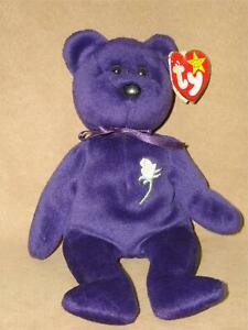 RETIRED-1997-TY-BEANIE-BABY-PURPLE-PRINCESS-DIANA-PE-PELLETS-RETIRED-MINT-COND