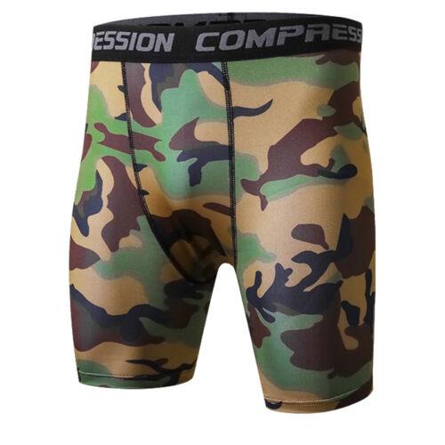Men/'s Compression Shorts Running Fitness Training Camo Dri fit Spandex Bottoms
