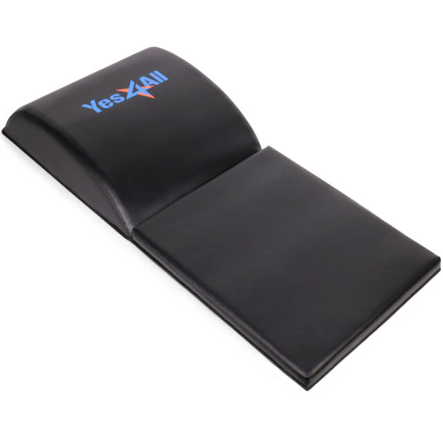 Yes4All Black Abdominal Exercise Mat with Tailbone