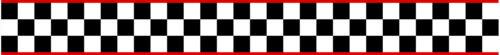 BANDE DAMIERS FILETS ROUGE 55cmX6cm MOTO CASQUE AUTOCOLLANT STICKER BB015