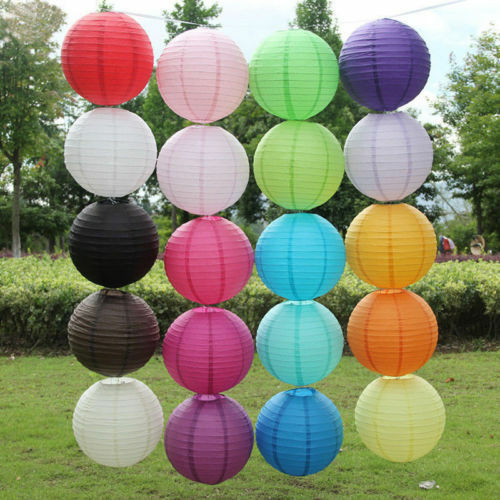 """8/"""" Paper Lanterns Chinese Round Ball Wedding Party Baby Shower Event Decoration"""