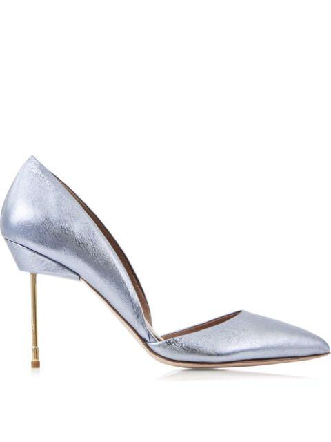 4cbb29d54261e3 Kurt Geiger London Court Shoes, Size 5 EU 38, Metallic Blue Bond High Heels