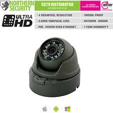 4MP 3.6MM 1080P P2P 20M Ir Poe Gris Torreta Al Aire Libre Cámara CCTV IP Caja de empalme