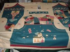 Vtg 90s Country Quilt Patch Church Angels Blessings Verse Vest Fabric Panel #wdt