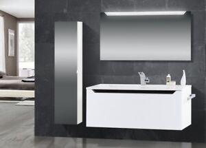 Design Badmöbel design badmöbel set waschtisch 120 cm schwarz hochglanz griffleiste