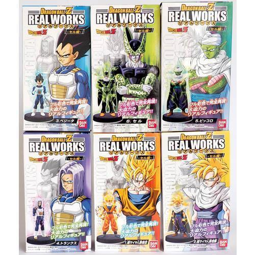 Bandai Dragon Ball Z Real Works Figure Part 3 - Complete Set of 6 Free Shipping