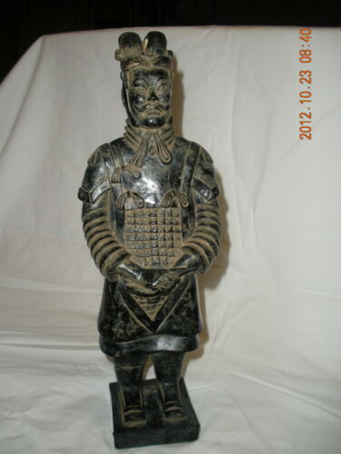 Xian Figurine black Chinese Terracotta Warrior Candles Army of Qin Shi Huang