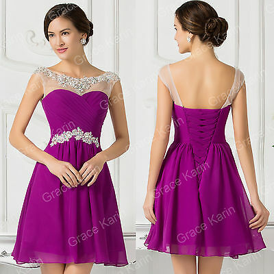 GRADS Homecoming Teen Short Prom Bridesmaid party Gown Evening Cocktail Dress uk