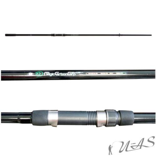 LINEAEFFE Magic Carbon Karpfen Rute Carp Rod 2tlg 3,60M 2,75LBS /& Klettband