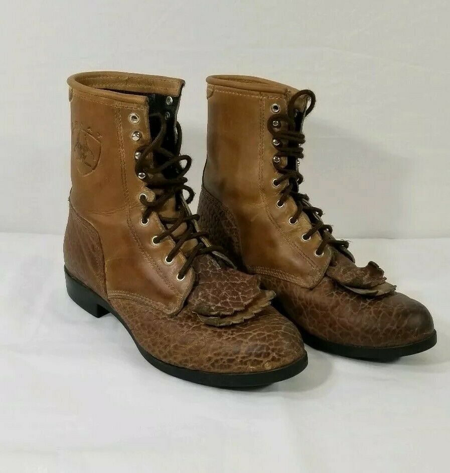 Ariat Womens Heritage Kiltie Distressed Brown Boot 30182 Size 7 B
