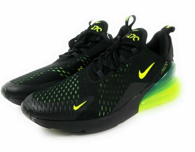 Nike Air Max 270 Volt Slime Black Oil Grey Mens Shoes Size