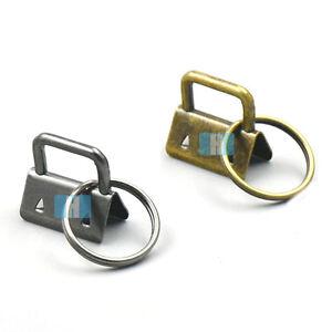 "1"" 25mm Key Fob Hardware With keyring For keychain Split wrist Wristlets Cotton"