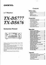 Onkyo Bedienungsanleitung für TX-DS 676 / DS 777