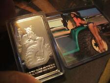 2 Sided Uncirculated 3D Pin Up Farm Girl .999 Fine Clad Silver Bar 32.7 gr