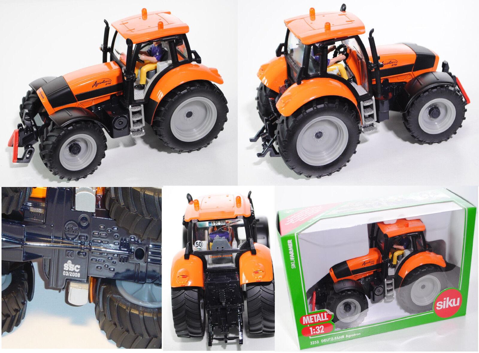 SIKU FARMER 3253 Deutz-Fahr Agrougeron 210 tracteur COMMUNAL 1 32, spécial modèle SSC