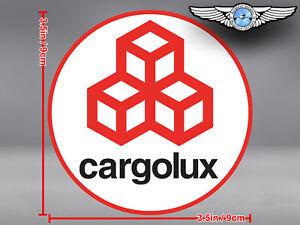 CARGOLUX CARGO LUX ROUND LOGO STICKER / DECAL