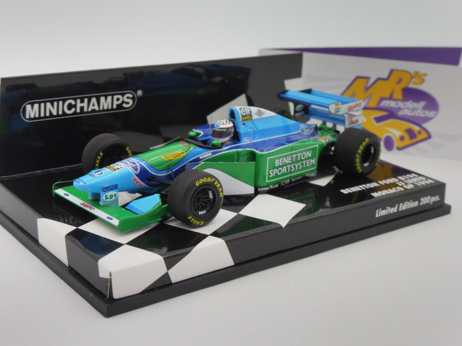 Minichamps 417940406   BENETTON FORD b194 Monaco GP 1994  AA. Lehto  1:43 NUOVO