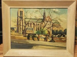 Original Oil Painting On Wood Signed Jean J Capron Vintage