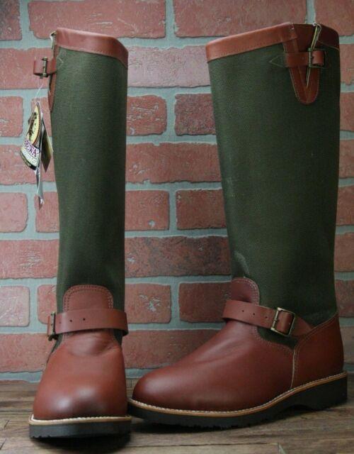 140812fd5cf Chippewa L23913 Espresso Viper Cloth Snakeproof Women's Buckle Snake Boots  9 M
