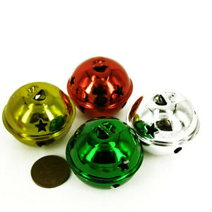 Metallo-Jingle-Bells-Ciondolo-Natale-Decor-BAG-CHARM-scacciapensieri-50mm-x-10