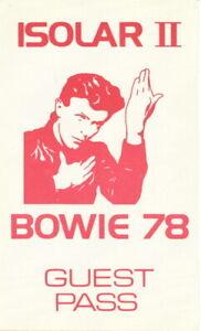 DAVID-BOWIE-1978-ISOLAR-II-CONCERT-TOUR-BACKSTAGE-GUEST-PASS-NMT-2-MINT
