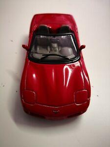 CHEVROLET-Corvette-Cabriolet-1-43-BBURAGO-Mattoncini-da-collezione-senza-imballaggio-originale