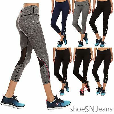 NEW Women Smooth Fit Yoga Workout Running Exercise Stretch Back Mesh Leggings