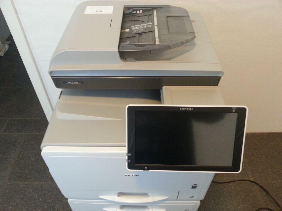 Laserprinter, multifunktion, m. farve