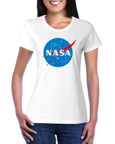 NASA Meatball Logo Worm Women/'s Short Sleeve Ladies Crewneck T-Shirt