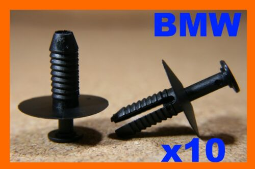 For BMW 10 bumper fender panel trim push rivet fasteners clips