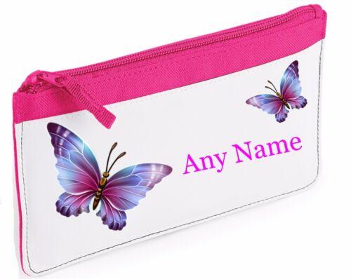 home furniture diy personalised purple butterfly pencil case pink blue red black school nursery stationery school equipment
