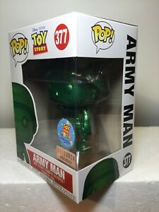 Funko Pop Box Lunch Exclusive//Toy Story Land Grand Opening Disney #377 Toy Story Metallic Army Man
