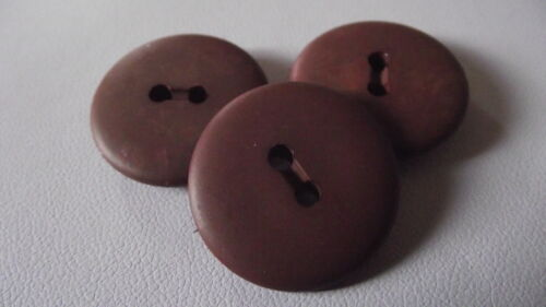 2 trous 3 BOUTONS Marron Brun 25 mm 2,5 cm Button sewing neuf lot couture