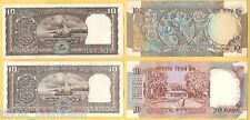 ★★OUT OF CIRCULATION 10 RUPEE 4 UNC NOTES ~ SAILING DOW ~ 2 PEACOCK ~ SHALIMAR★★