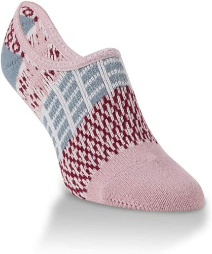 World/'s Softest Socks Sweater Footsie No Show Adobe Rose OS Rose Pink