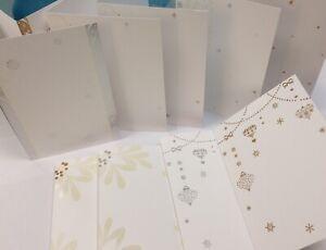 LUXURY-CRAFT-CARD-BLANK-INVITATION-set-IVORY-A5-metallic-FOIL-x10-pack-wedding