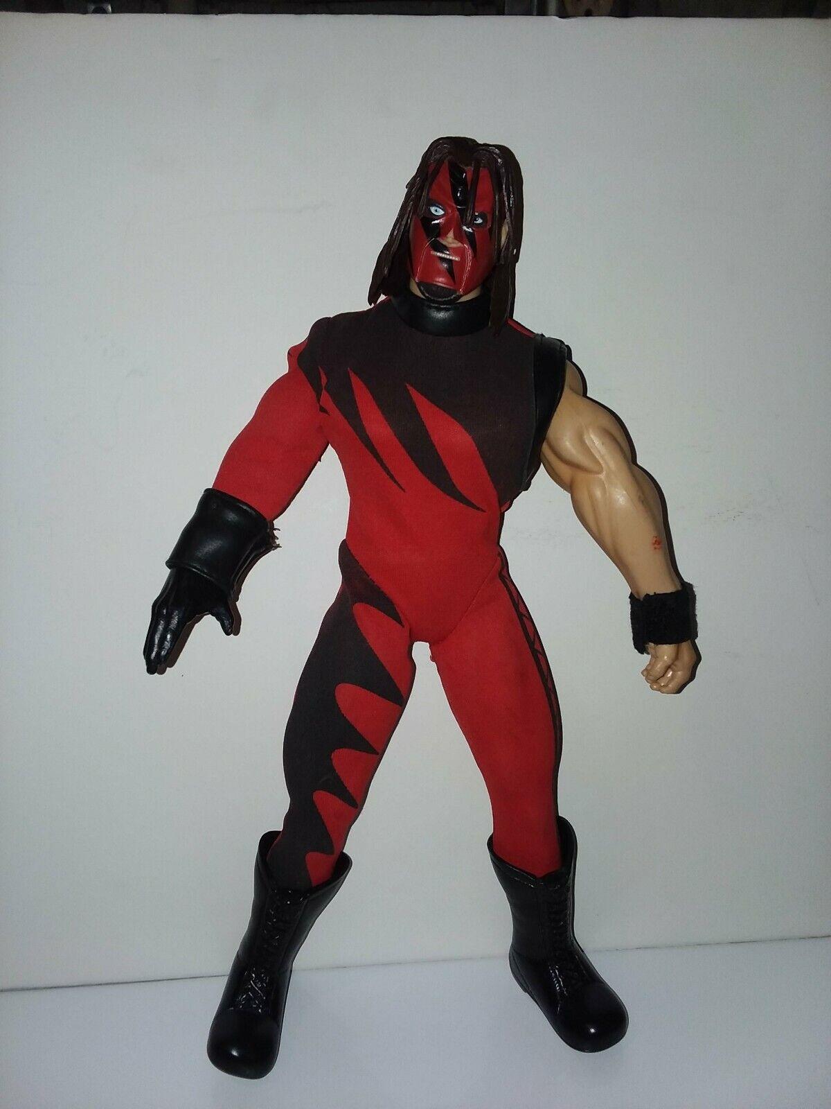 WWE JAKKS Kane 12 Poseable Wrestling azione cifra elite Rare