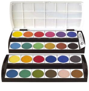 Farbkasten-Deckfarbkasten-Tuschkasten-Wasserfarbe-24-Farben-1-Deckweiss