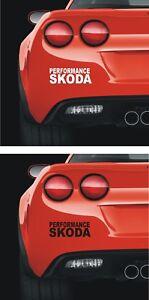 SKODA 140mm   PANEL WINDOW Stickers   Performance