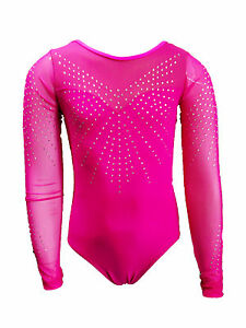 SIMPLY-PINK-LONG-SLEEVE-GIRLS-GYMNASTICS-LEOTARDS