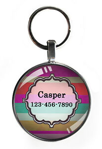 One inch colorful pet tag for small dogs custom personalized steel round new tag