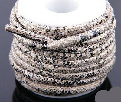 1/5m Snake Faux Leather Cord PU Thread Wire DIY Jewelry Bracelet Finding 6MM