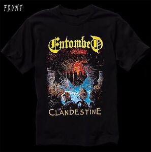 9b411df896df Image is loading ENTOMBED-Clandestine-Swedish-death-metal-band-T-shirt-
