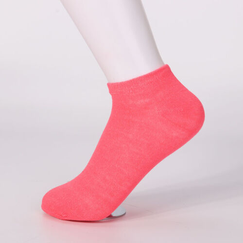 10 Pairs Candy Color Low Cut Women Boat Cotton Socks Ankle Sports Casual Socks