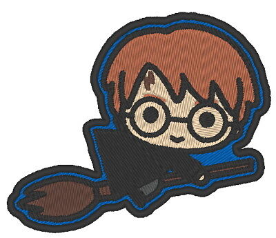 COLLECTIBLE CHIBI HARRY POTTER BADGE COSPLAY ES0251 EMBROIDERED PATCH