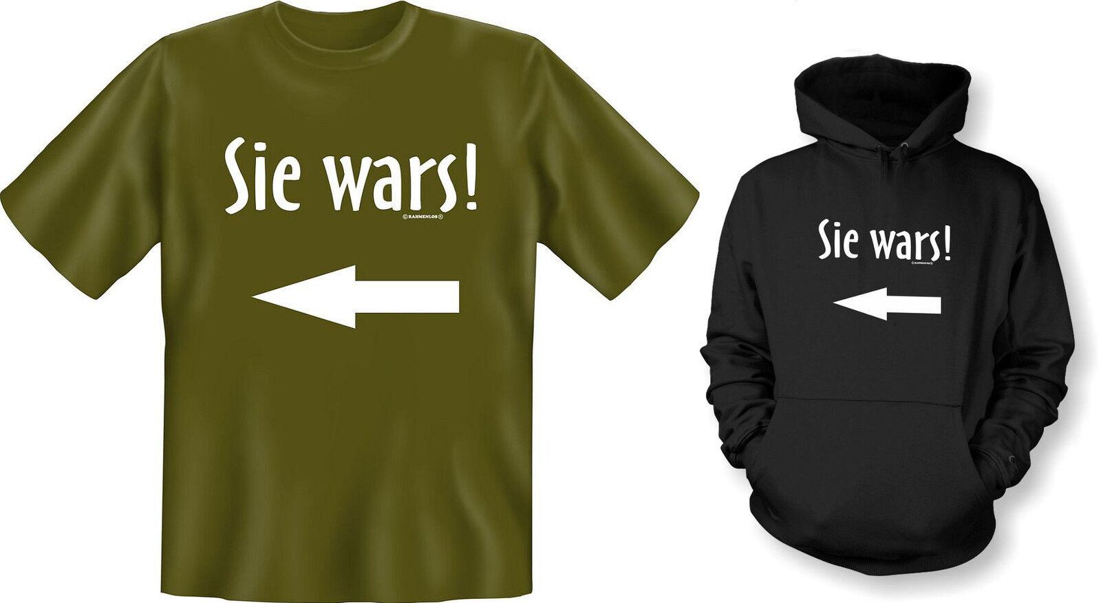 Kapuzenshirt Hoodie od. T-Shirt Sie wars  NEU  | Online Store  | Ausgezeichnetes Preis  | Professionelles Design