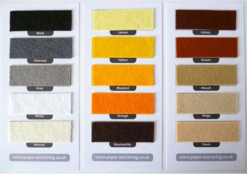 4 sizes RAINBOW Stack of Premium Wool Blend Felt 45 colours 40/% wool